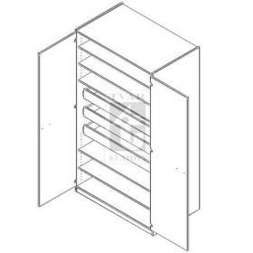 Skříň šatní s uzamykatelnými dveřmi varianta 2