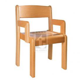 Židle s područkou TIM /P - přírodní provedení