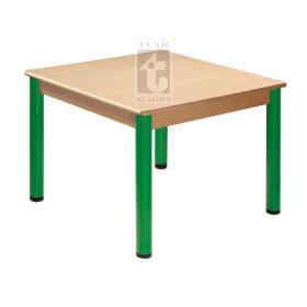 Čtvercový stůl 80 x 80 cm, deska UMAKART dekor BUK