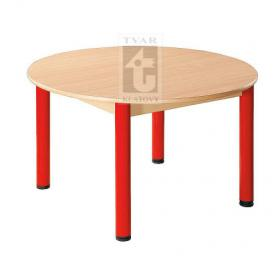 Kulatý stůl prům. 100 cm, deska UMAKART dekor BUK