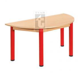 Půlkulatý stůl 120 x 60 cm, deska UMAKART dekor BUK