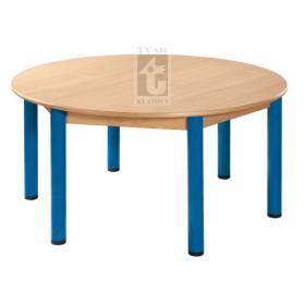 Kulatý stůl prům. 120 cm, deska UMAKART dekor BUK