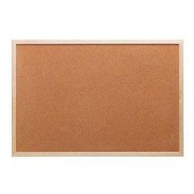 Korková nástěnka s dřevěným rámem 100x75