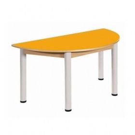 Stůl půlkulatý 120 x 60 cm / výškově stavitelné nohy 36 - 70 cm