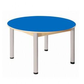 Stůl kulatý průměr 100 cm / výškově stavitelné nohy 36 - 70 cm