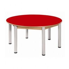 Stůl kulatý průměr 120 cm / výškově stavitelné nohy 58 - 76 cm
