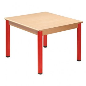 Čtvercový stůl 120 x 120 cm / kovové nohy s rektifikační patkou